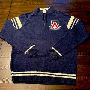 NCAA Arizona Wildcats Quarter Zip Sweater